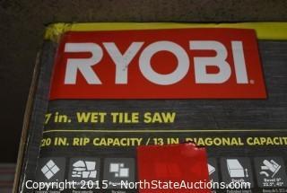 RYOBI 7in Wet Tile Saw