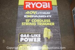 """RYOBI 40V Lithium 15"""" Cordless String Trimmer"""