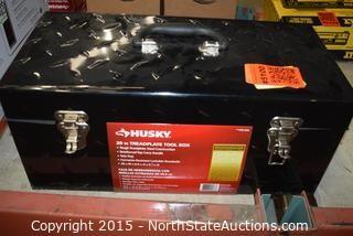 HUSKY 20in Treadplate Tool Box