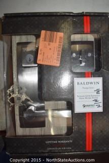 Lot of Baldwin Door Handle and Deadbolts