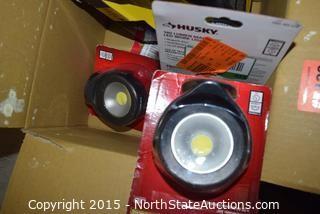 Lot of Husky 180 Lumen Magnetic LED Work Light