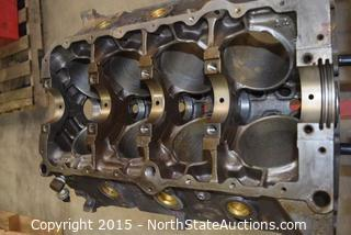 Engine Stand With Engine Block
