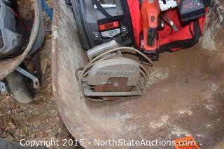 Wheelbarrow and Milwaukee Cordless Tools