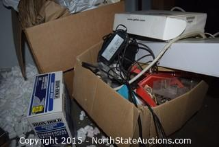 Lot of Table, Printer, Knight Tube Tester and Other Electronics
