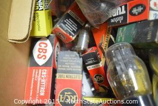 Lot of Vintage Tubes, Coax Parts and Other Parts