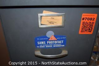 Lot of Sam's Photofact Tv-radio Service Information in File Drawer