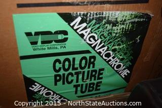 Lot of Color Picture Tubes and Car Speaker
