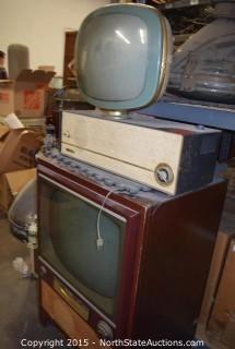 Philco Predicta TV, RCA Victor TV, Newcomb Speaker and CRT