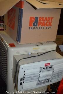 Swamp Cooler and Box of Misc Cords and Parts