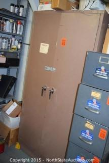 Metal Cabinet with Misc Tubes and Repair Parts