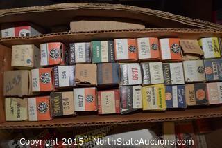 Box of Vacuum Tubes (Various Brands)