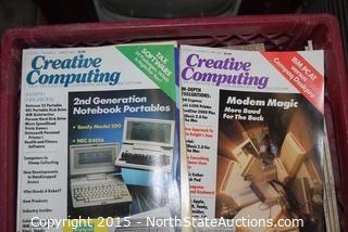 3 Crates of 70's and 80's Creative Computing Magazines