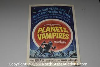 Vintage Planet of The Vampires Poster