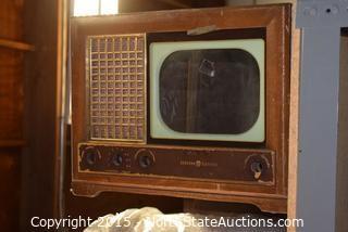 Lot of Vintage TV Cabinets