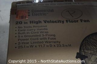Lot of Commercial Electric 20in High Velocity Floor Fans