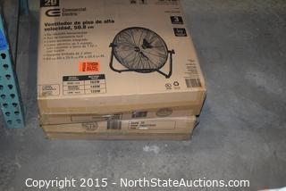 Lot of Commercial Electric 20in High Velocity Floor Fan