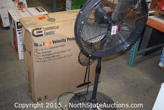 Commercial Electric 30in High Velocity Pedestal Fan