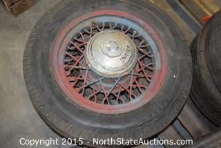 Lot of Old Tires and Rims
