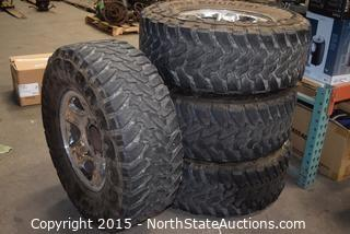 Set of Toyo M/T Tires and Rims