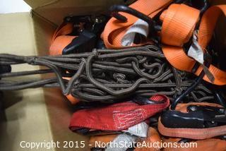 Lot of Tie-downs and Cargo Net
