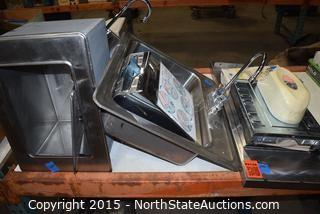 Lot of Commercial Sinks and  Paper Towel Dispenser