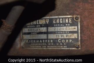 Vintage Mercury Two-Man Chainsaw