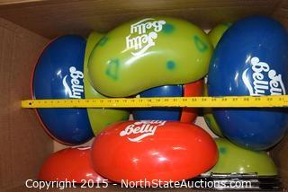Lot of Jelly Belly Displays
