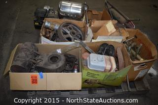 Lot of Misc Plumbing Supplies and Small Engine and Parts