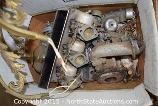 Lot of Misc (small engine parts, cable)