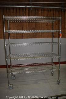 Rolling Commercial Rack