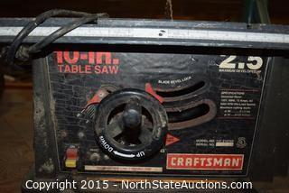 Craftsman 10in Table Saw
