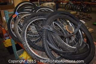 Lot of Bicycle Tires and Rims