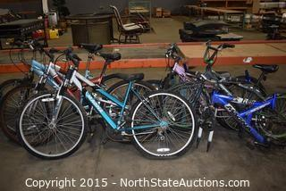 Lot of Bicycles and Parts