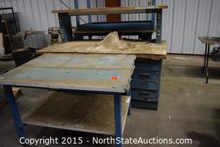 Lot of Workshop Tables and Desk