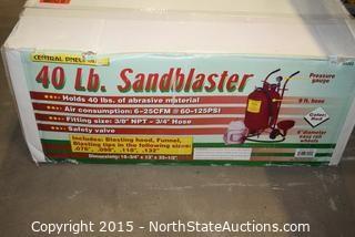 Central Pneumatic 40 Lb. Sandblaster
