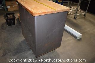 Sargent Rolling Tool Box with Butcher Block Top