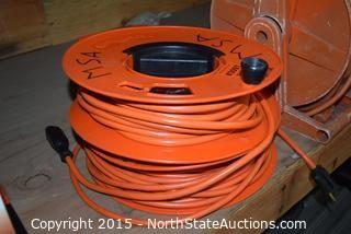 Lot of Extention Cords on Reels