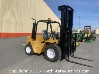 Catrpillar RC60 Rough Terrain Forklift Perkins Diesel 6000 Lb Capacity, 21 foot reach