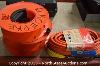 Lot of Extention Cords and Reels