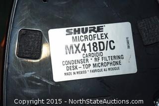 Lot of Shure Mircoflex Microphones