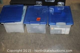 Lot of Misc (3 Totes w/blue lids)