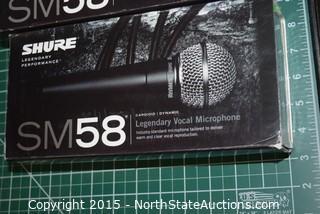 Lot of Shure SM58 Legendary Vocal Microphones
