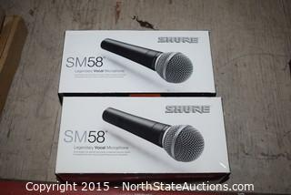 Lot of Shure SM58 Legendary Vocal Microphone