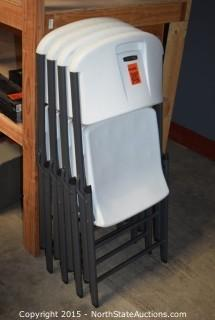 Lot of Lifetime Folding Chairs