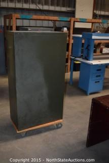 Metal Cabinet with Drawers and Contents