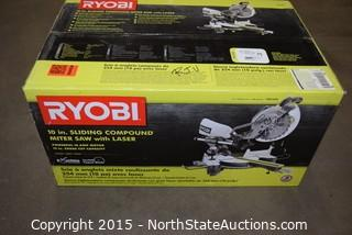 Ryobi 10in Sliding Compound Miter Saw With Laser