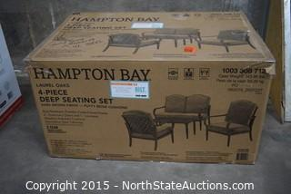 Hampton Bay 4- Piece Deep Seating Set