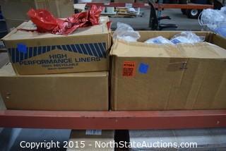 Lot of Hazardous Waste Disposal Supplies