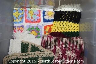 Lot of Crochet Blankets