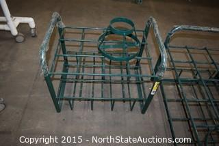 Lot of Oxygen Tank Stands and Carriers